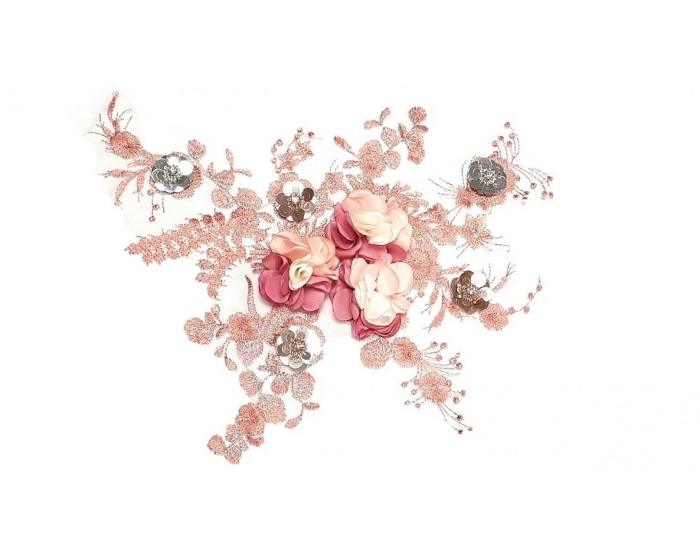 Prisiuvama aplikacija Pastelinės gėlės