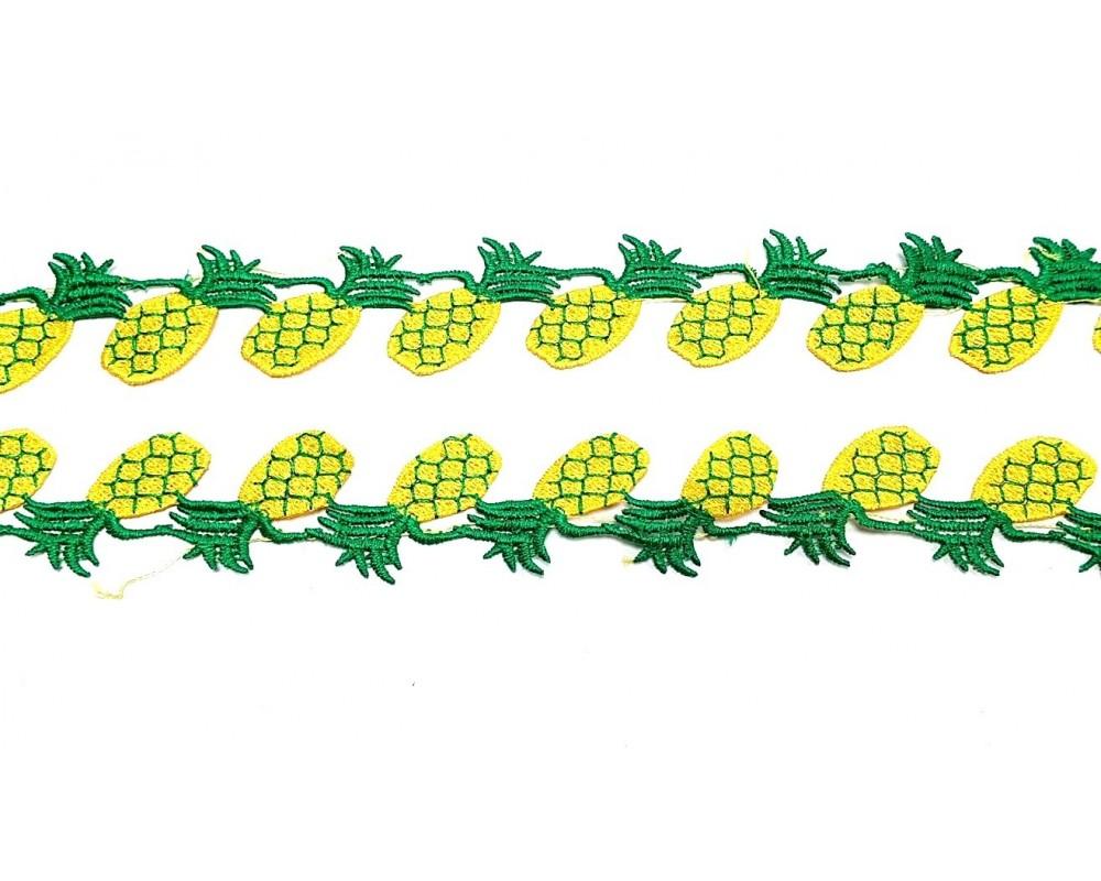 Dekoratyvinė juostelė Ananasai 40mm.
