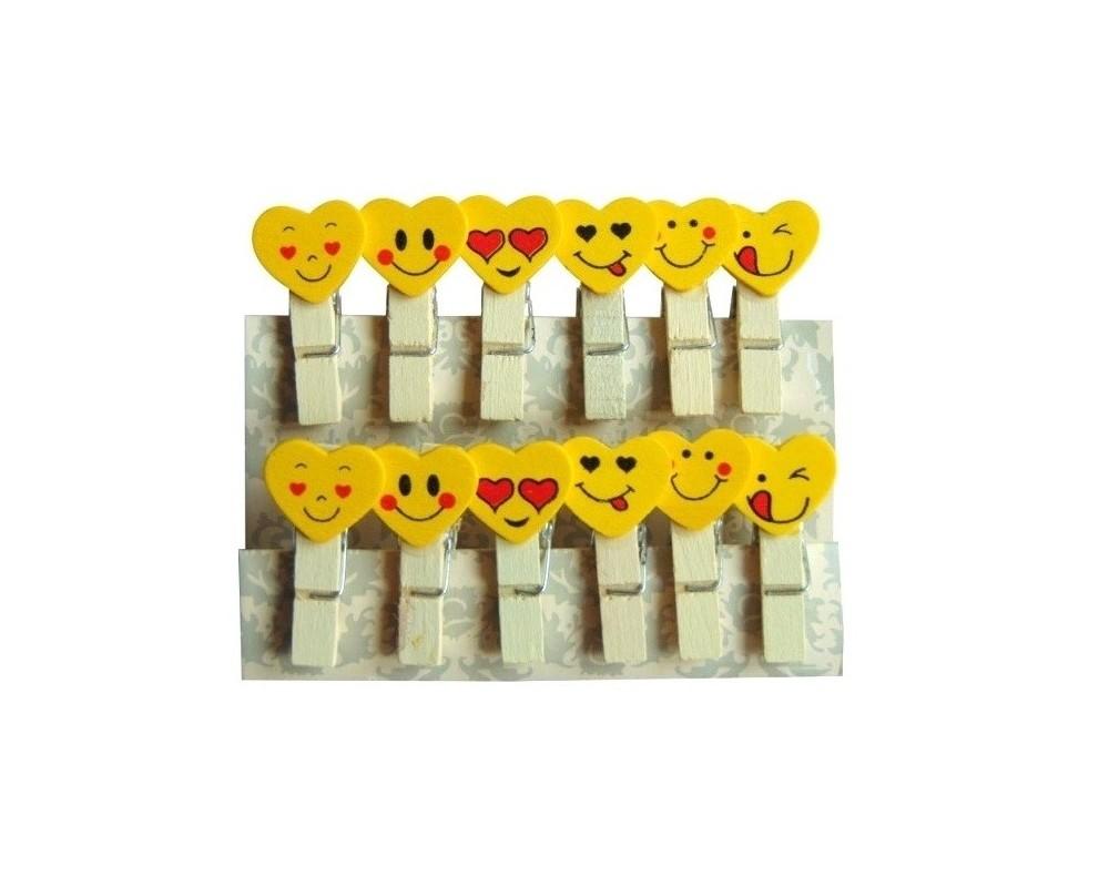 Mediniai segtukai Emoji 35mm
