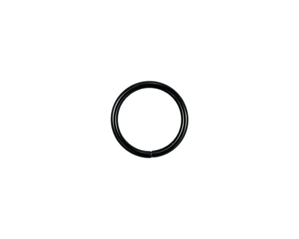 Žiedas galanterijai Juodas