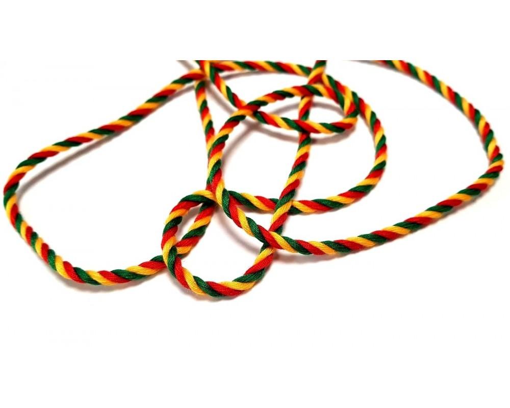 Trispalvė virvelė