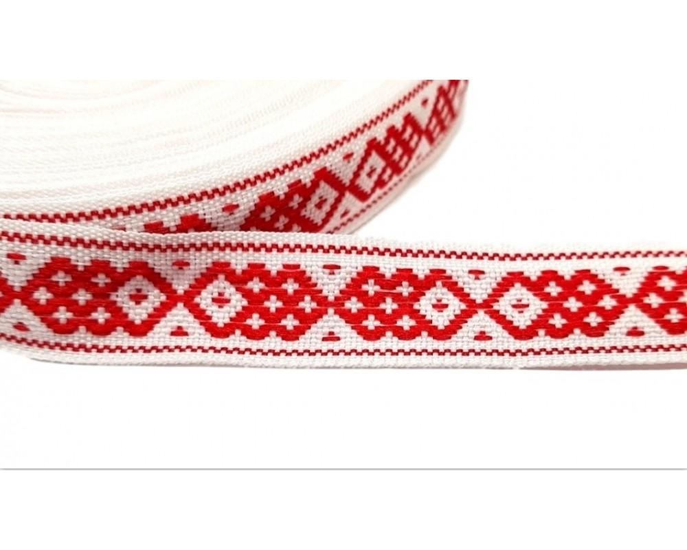 Tautinė juostelė Balta / Raudona
