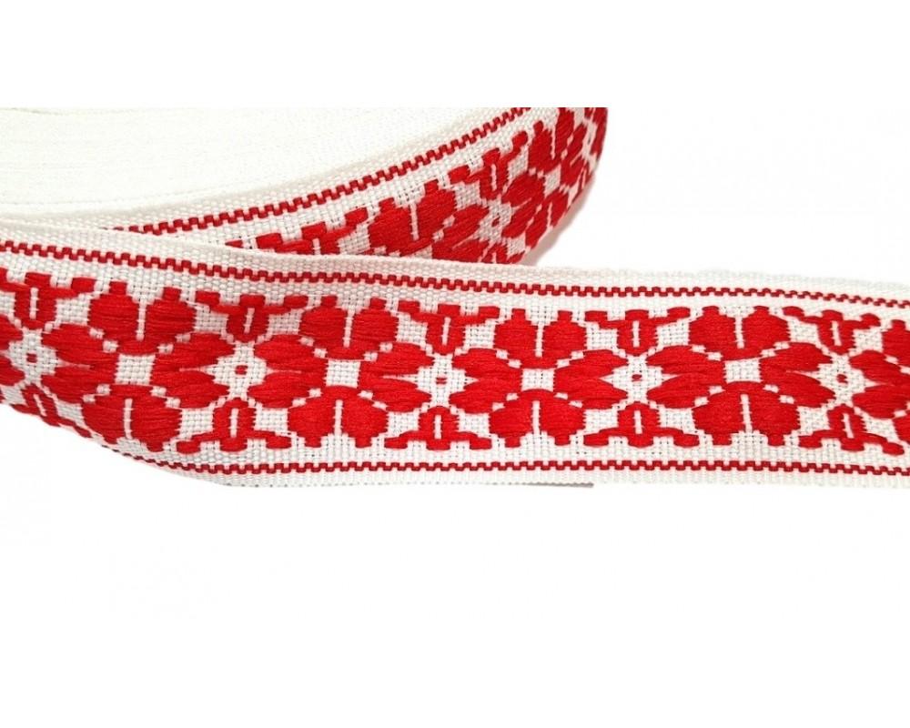 Tautinė juostelė Balta / Raudona 35mm