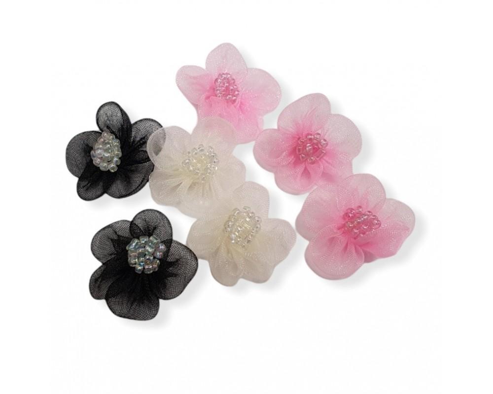 Gėlytės su karoliukais 30mm