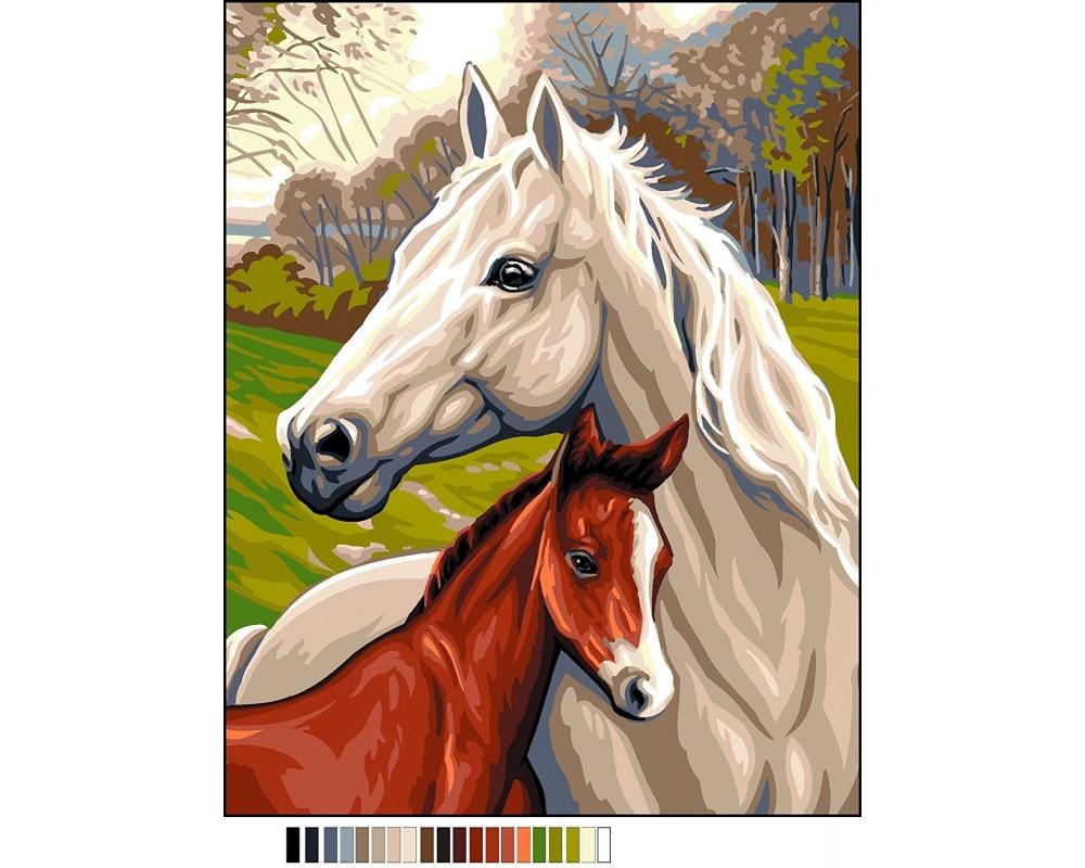 """Siuvinėjimo paveikslai """"Arkliai"""""""