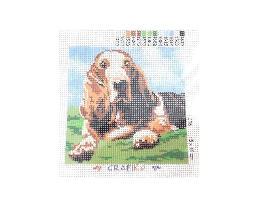 """Siuvinėjimo paveikslas """"Šuo"""""""