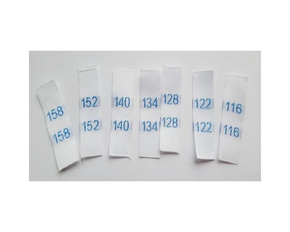 Etiketės 116 - 158 dydžiai