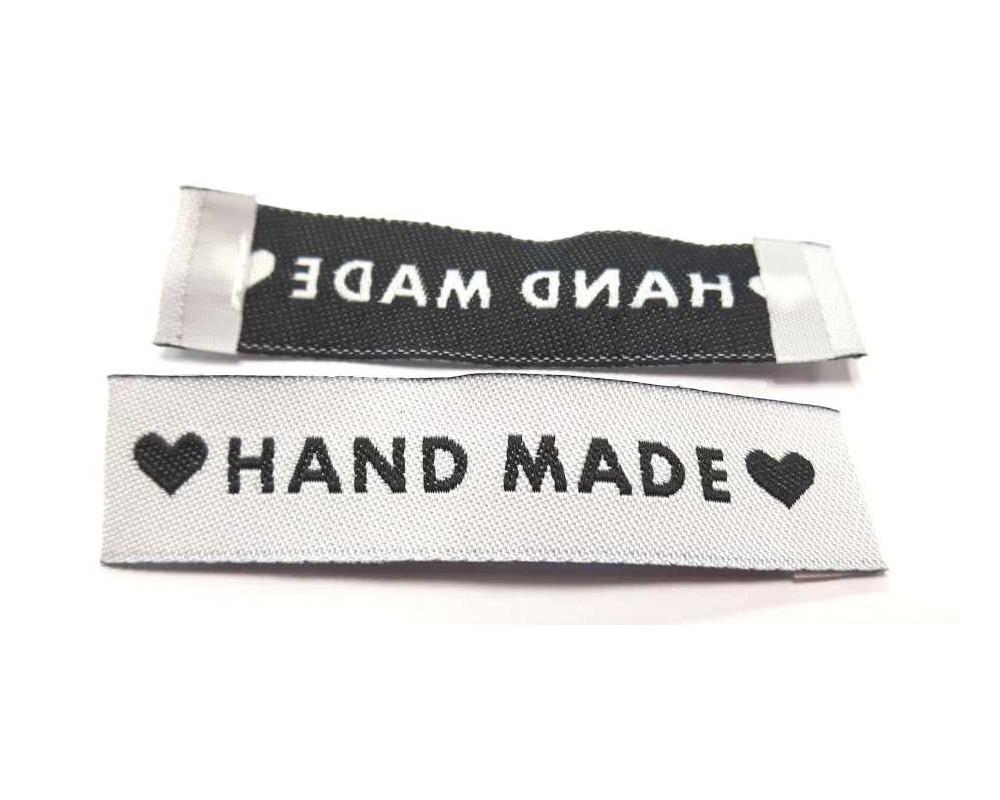 "Etiketė ,,Hand made"""