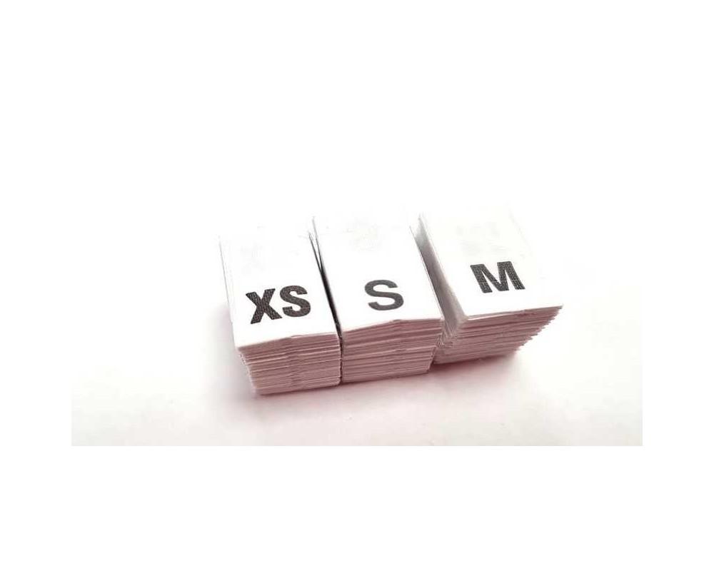Etiketės drabužiams XS - M