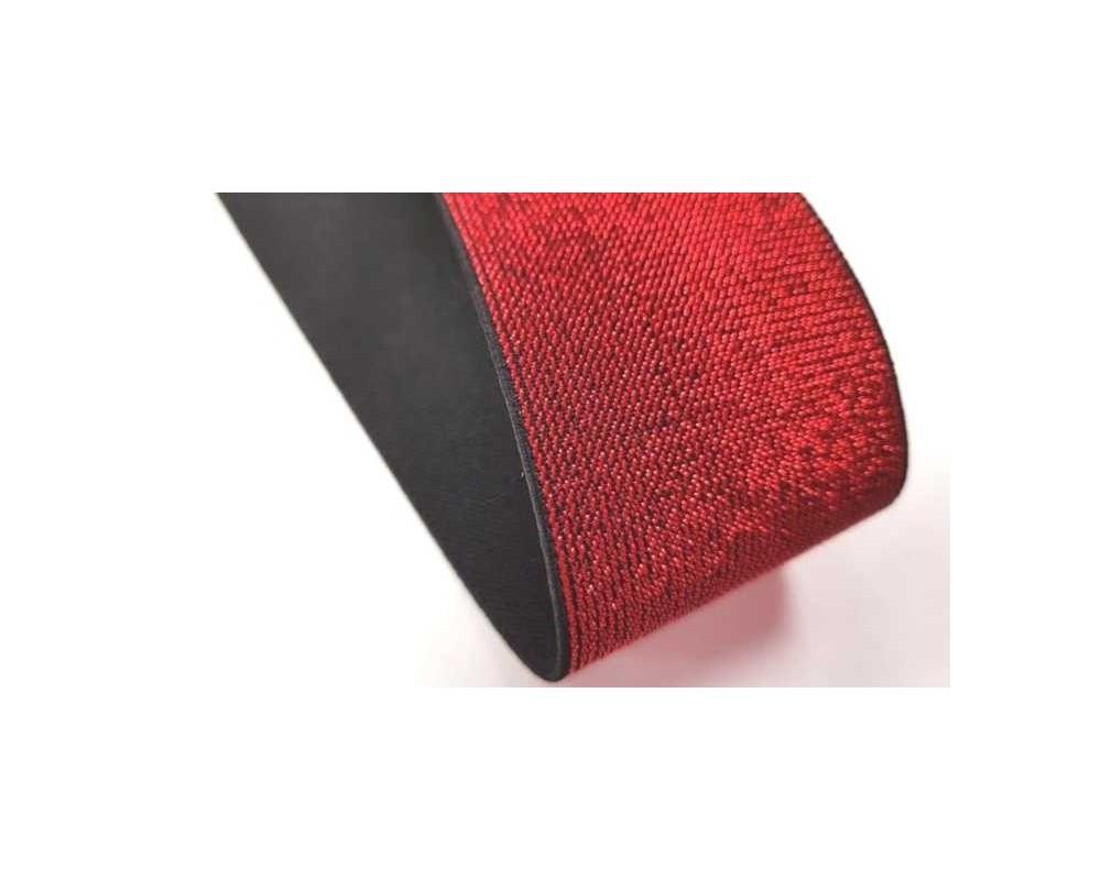 Dekoratyvinė guma 50mm Raudona Metalic