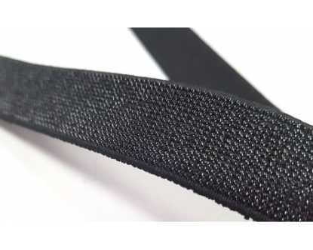 Dekoratyvinė guma Blizgi juoda 20mm