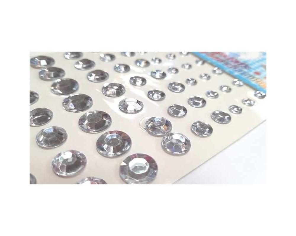 Priklijuojami kristalai Skaidrūs 6 - 12mm