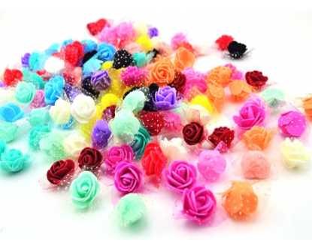 Gėlytės dekoracijoms su tiuliu 30mm
